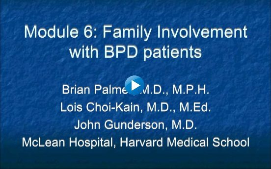 Module 6: Familiy Involvement with BPD